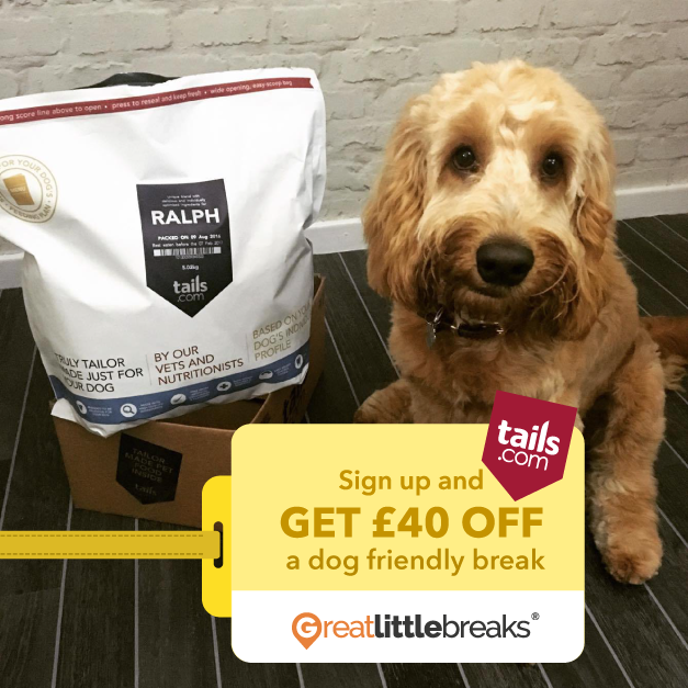 2 weeks tails.com dog food plus holiday vouchers