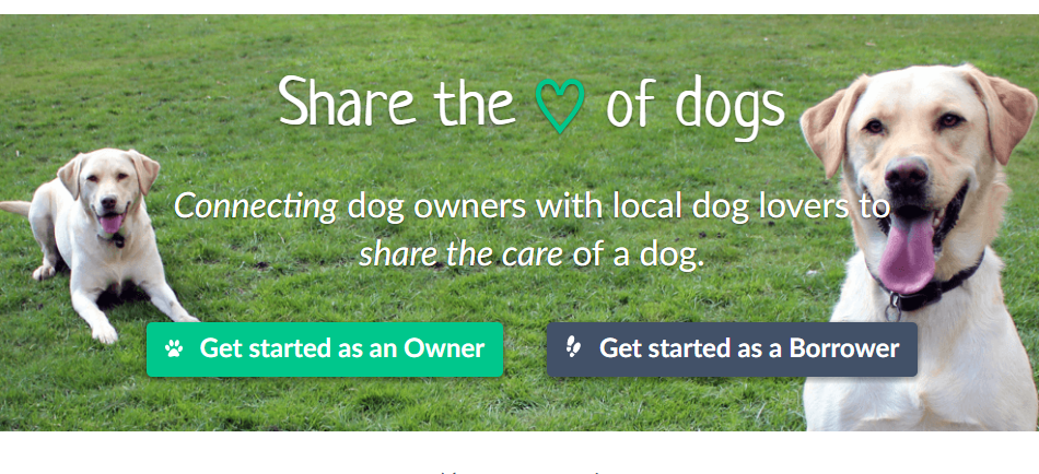 Free sign-up to BorrowMyDoggy