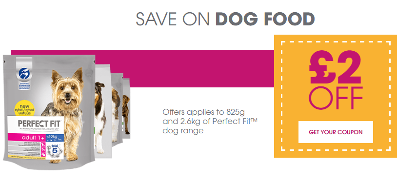 Perfect Fit Dog Food Discount Voucher