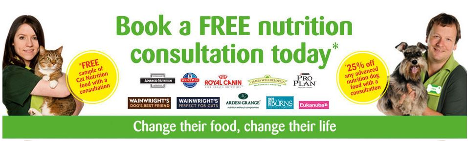 Free Pets at home nutritional dog or cat food advice