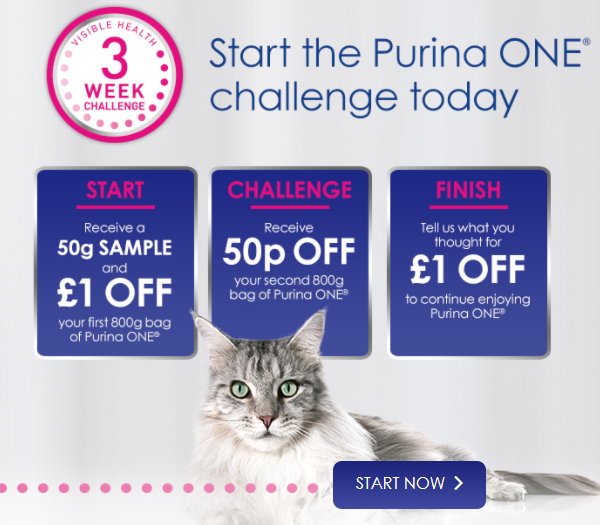 Purina One free 3 week cat food challenge
