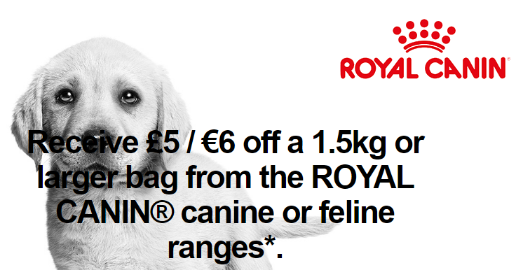 Free £5 Royal Canin Discount Voucher
