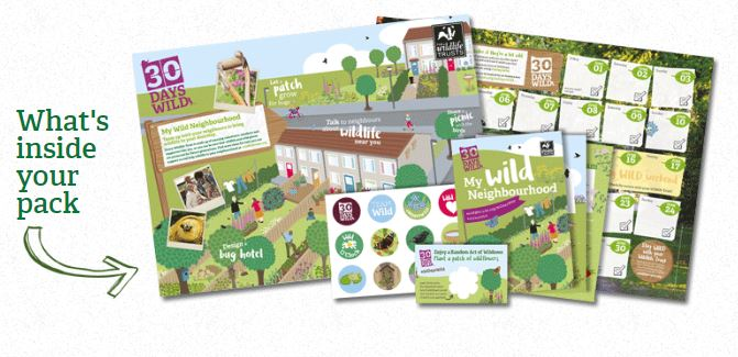 Free Wildlife Trusts 30 days wild goodie pack